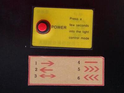 arrow board control button