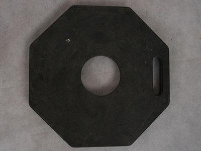 T top bollards rubber base