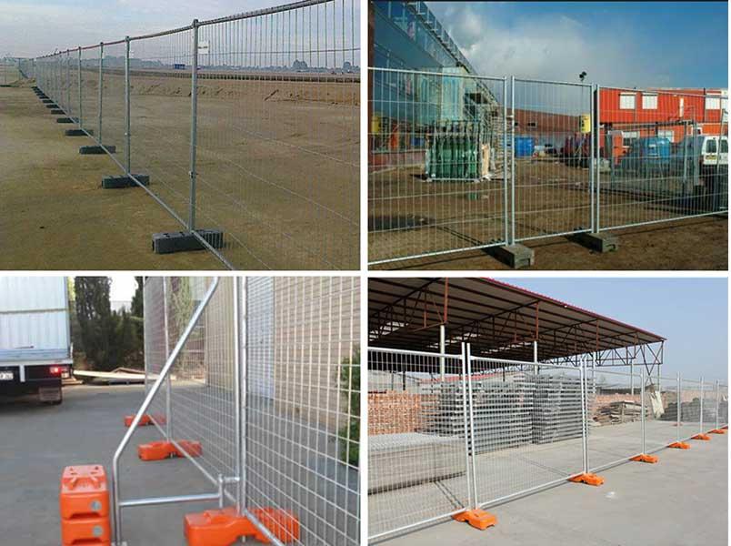 fence feet installation effect