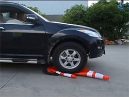 PVC Traffic Cones Rolling and Recovery Test